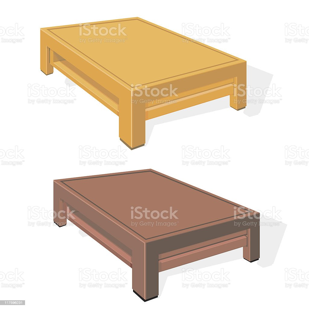 Coffee Table royalty-free stock vector art