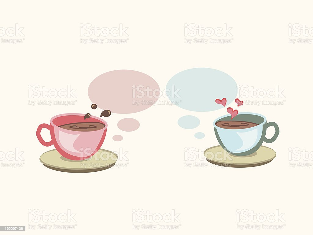 coffee talk royalty-free stock vector art