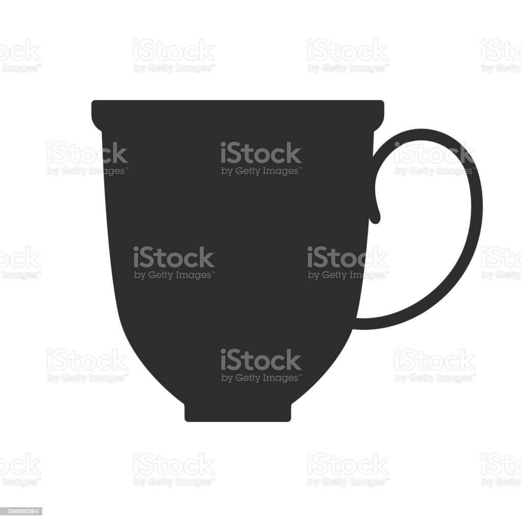 Vetores De Coffee Tea Cup Mug For Drinks Black Silhouette Mugs Dishes E Mais Imagens De Abstrato Istock