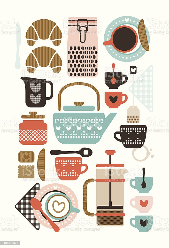 Coffee & Tea royalty-free coffee tea stock vector art & more images of afternoon tea
