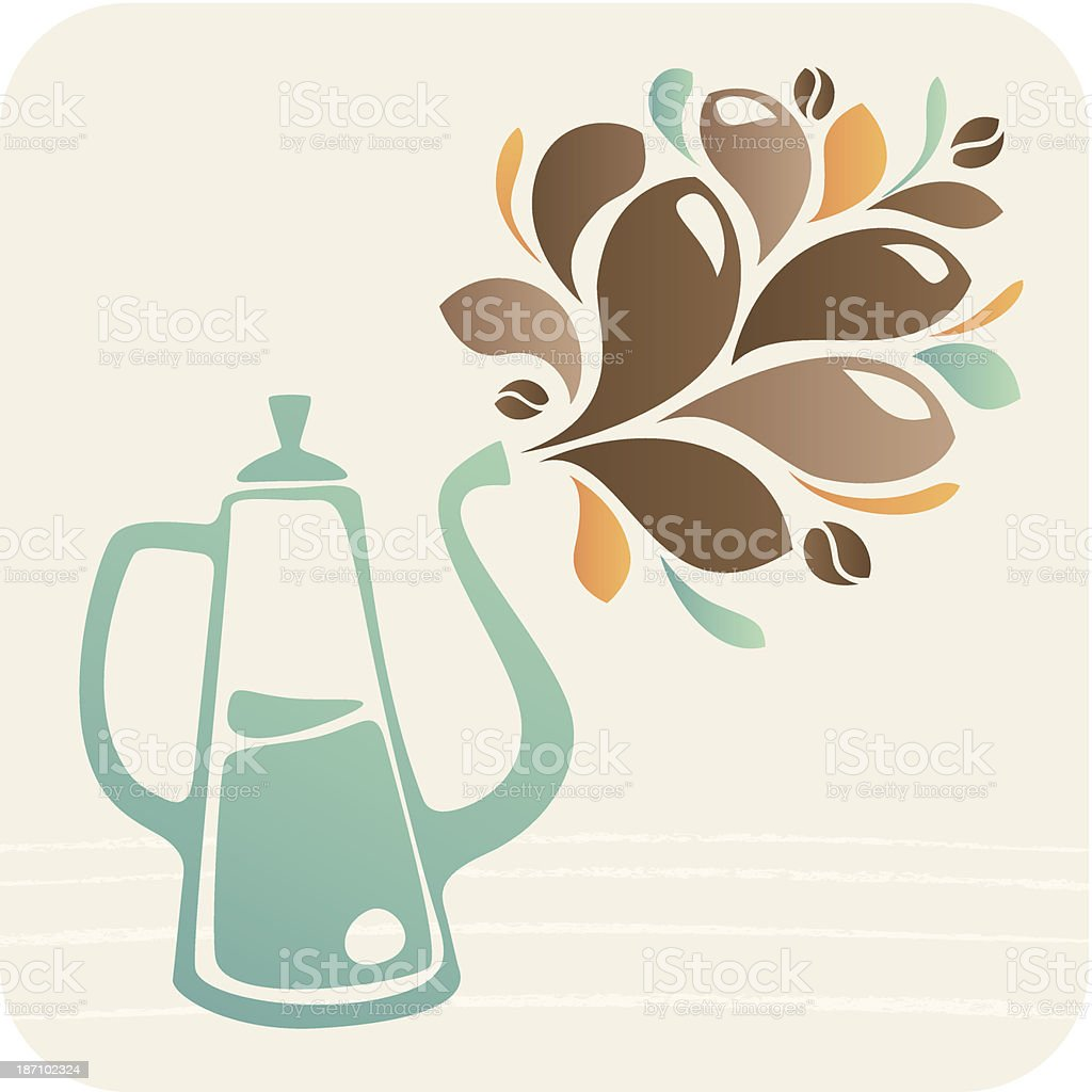 Coffee teapot with ornament royalty-free coffee teapot with ornament stock vector art & more images of aromatherapy