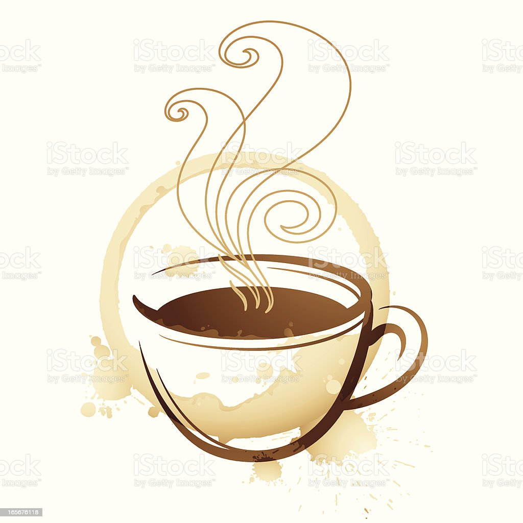 Coffee Texture royalty-free stock vector art