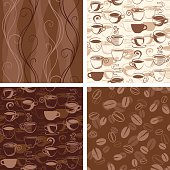 istock Coffee Themed Seamless Wallpaper Patterns 472289147