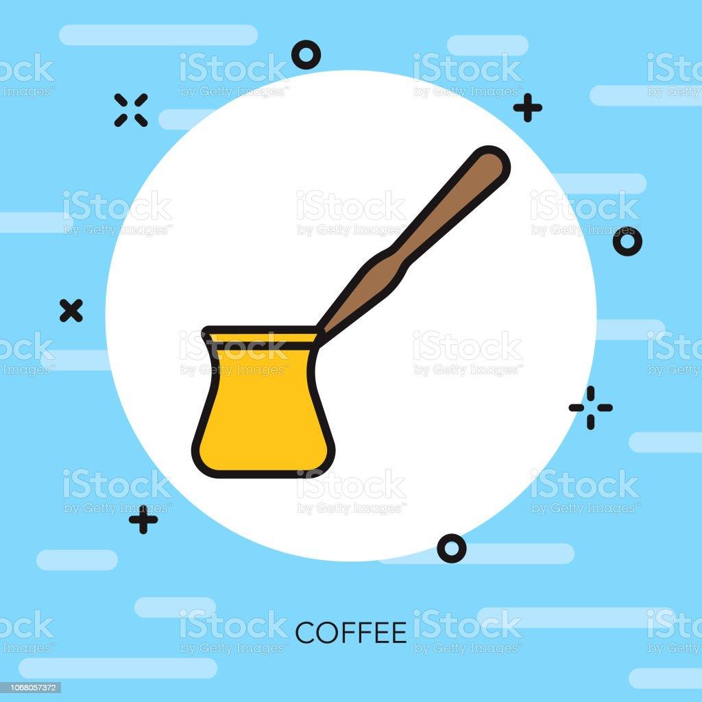 コーヒー薄い線ギリシャ アイコン ベクターアートイラスト