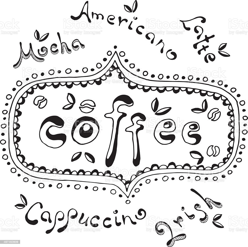 Coffee time, Hand drawn text royalty-free coffee time hand drawn text stock vector art & more images of american culture