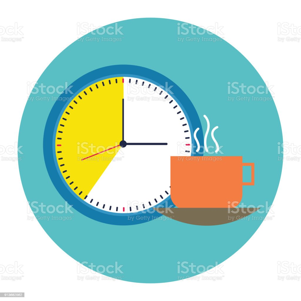 Coffee time icon vector art illustration