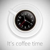 coffee time theme on white background