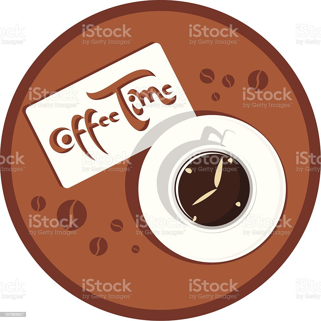 Kaffee Zeit – Vektorgrafik