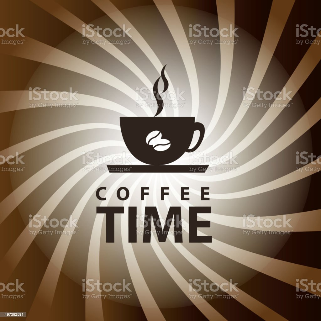 Coffee time royalty-free stock vector art