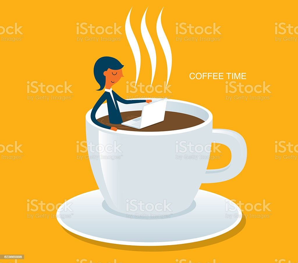Coffee time vector art illustration