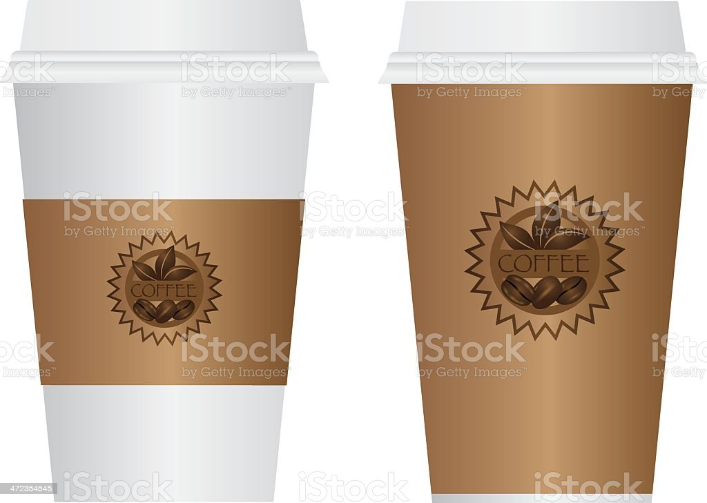 Coffee To Go Cups Vector Illustration royalty-free stock vector art