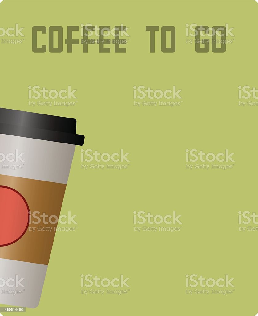 coffee to go design template vector art illustration