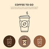 istock Coffee to go icon. Paper cup icon for web and graphic design 645941954