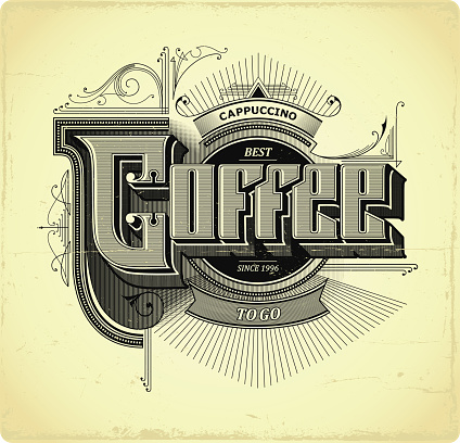 Coffee to go lettering. Sign.