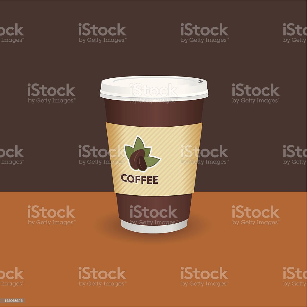 Coffee to go! royalty-free stock vector art
