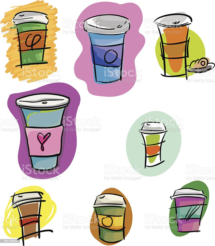 Coffee To-Go Cup Illustrations royalty-free stock vector art