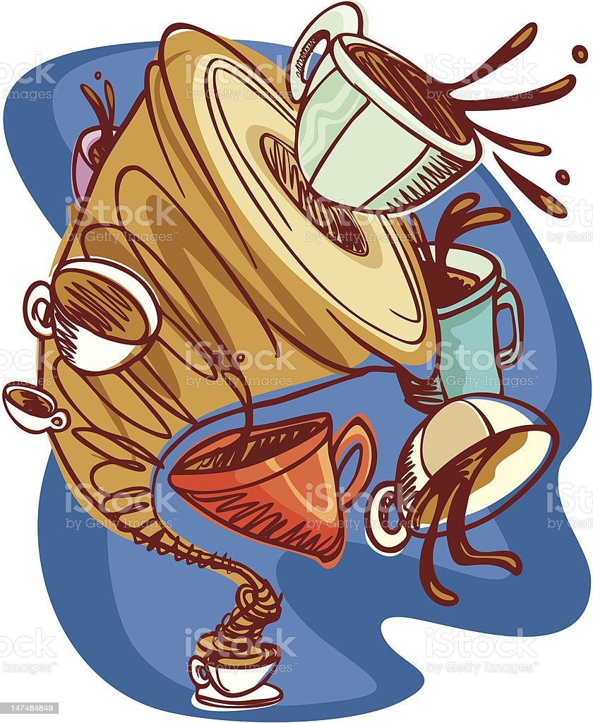 Coffee tornado royalty-free stock vector art