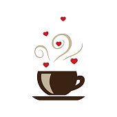 hot cup of love coffee