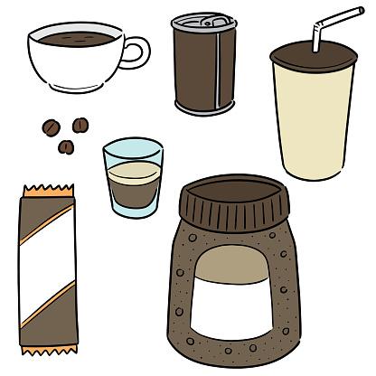 Coffee - Arte vetorial de stock e mais imagens de Arte Linear