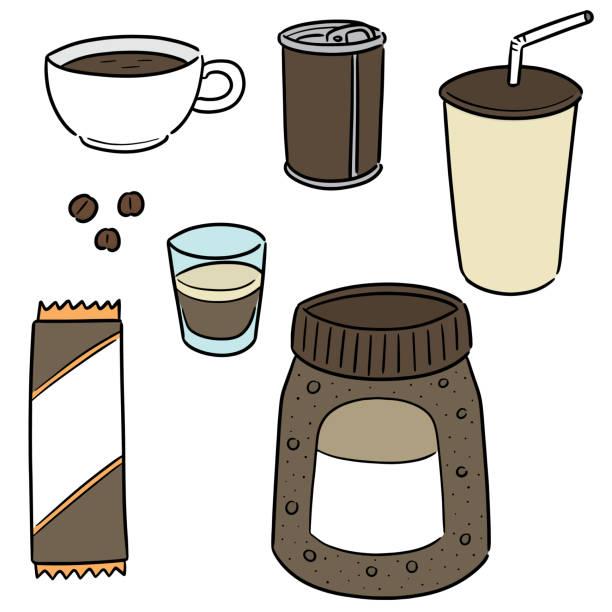 ilustrações de stock, clip art, desenhos animados e ícones de coffee - café solúvel