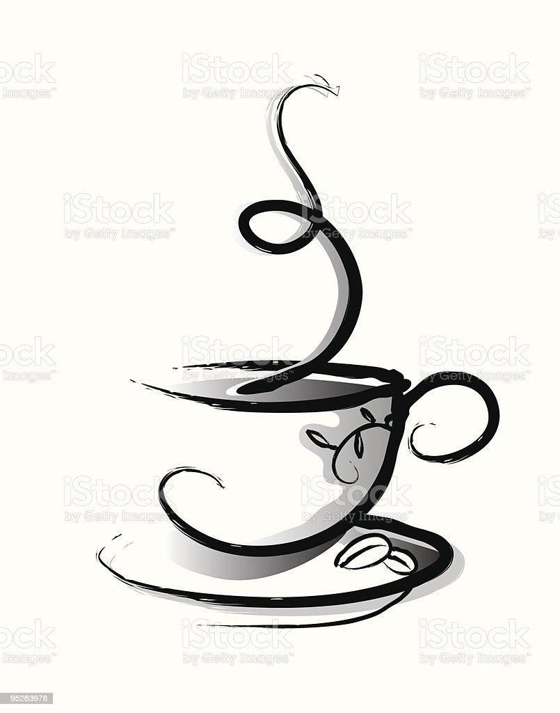 Coffee vector art illustration