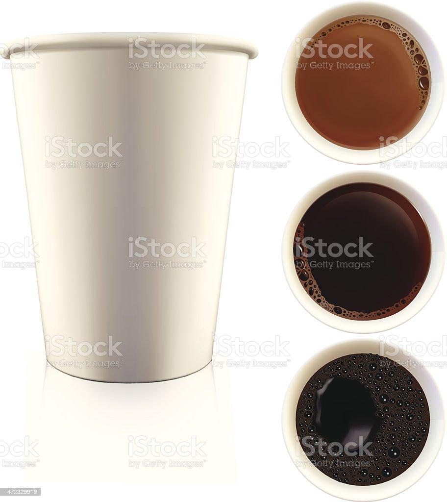 Coffee - Vector Illusration royalty-free coffee vector illusration stock vector art & more images of black color