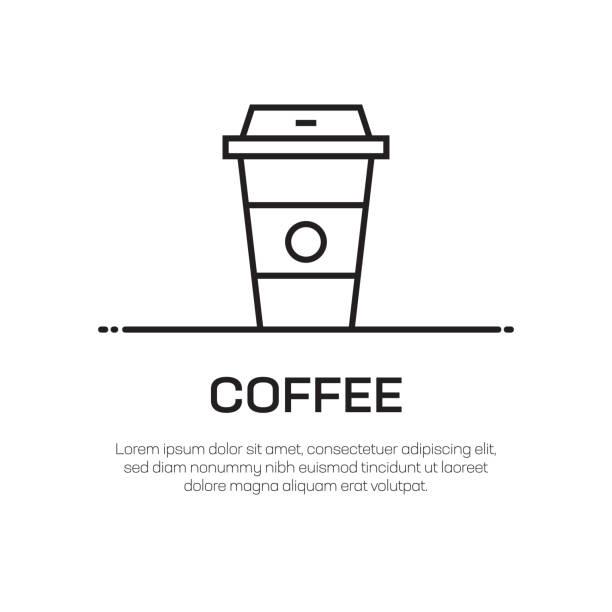 coffee vector line icon - simple thin line icon, premium quality design element - coffee stock illustrations, clip art, cartoons, & icons