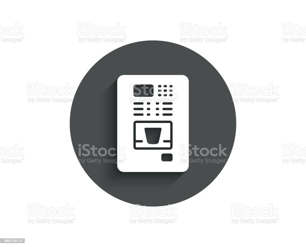 Coffee vending machine simple icon. Hot drink. royalty-free coffee vending machine simple icon hot drink stock illustration - download image now