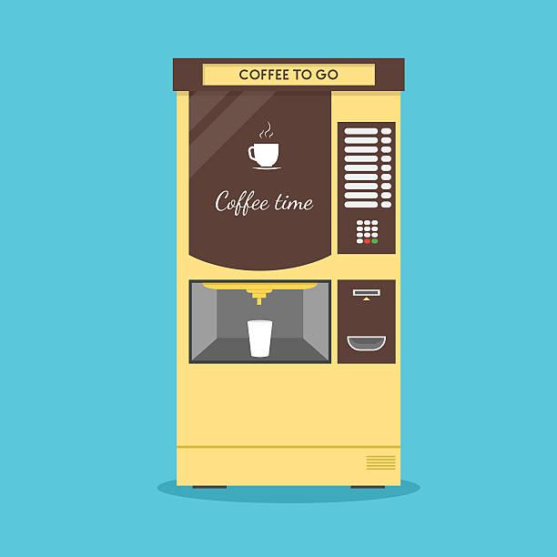 coffee vending machine. vector - empty vending machine stock illustrations