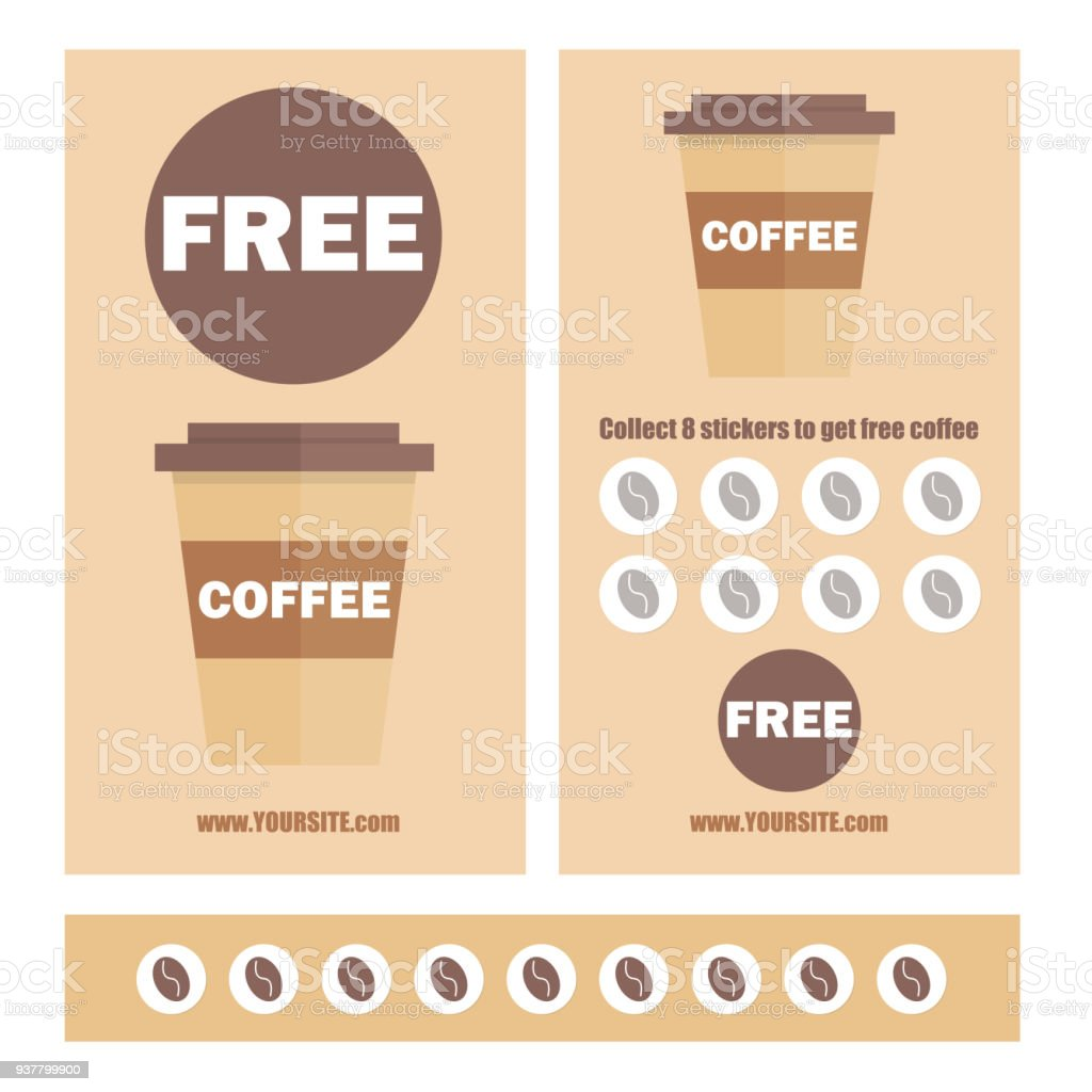A Coffee Voucher Or Discount Coupon Vector Flat Voucher Template