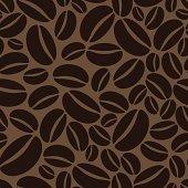 Seamless Coffee Bean Wallpaper.