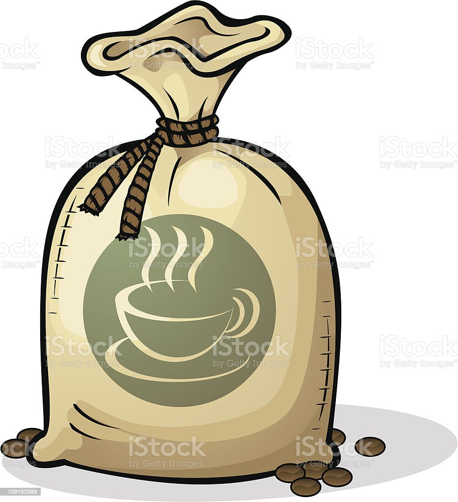 coffeee sack royalty-free stock vector art
