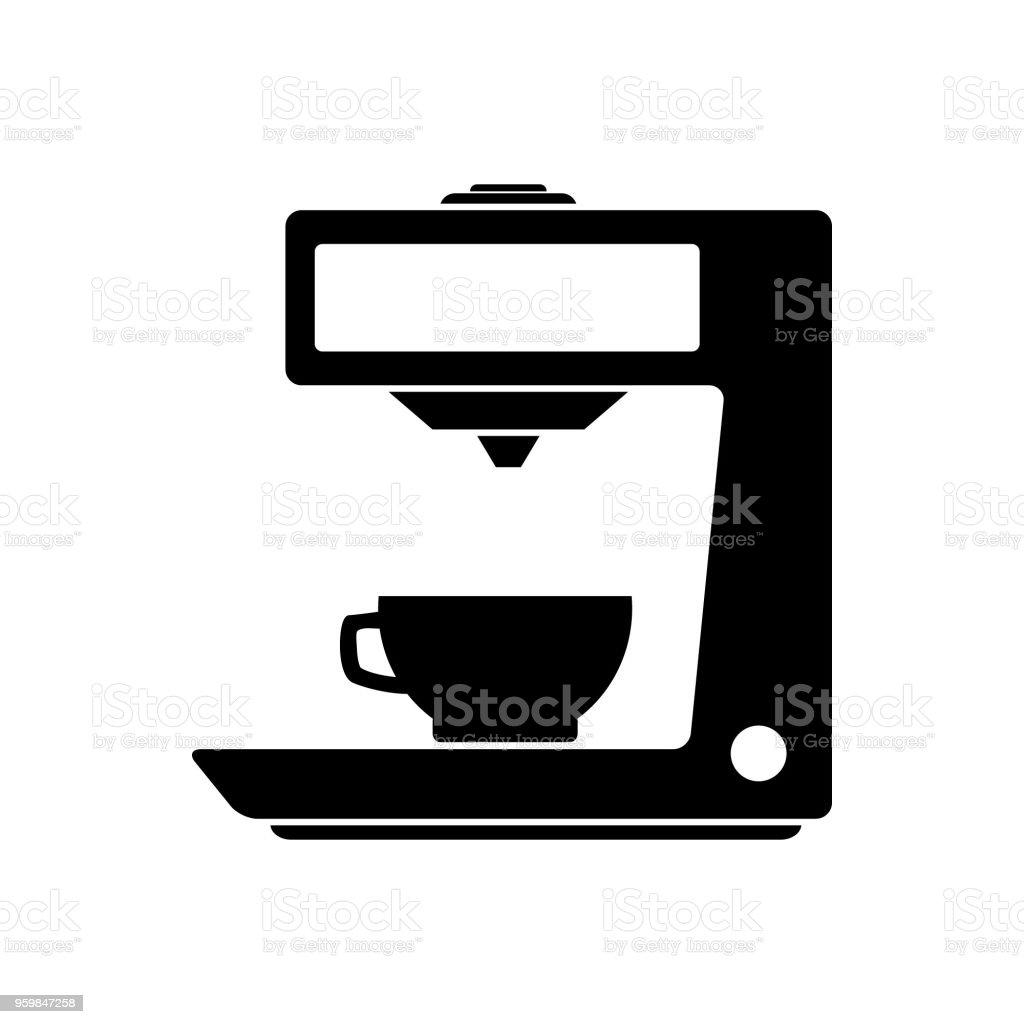 Ilustración de Máquina Cafetera Icono De Vector De La Máquina De ...