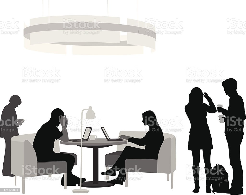 CoffeeShop Laptop royalty-free stock vector art