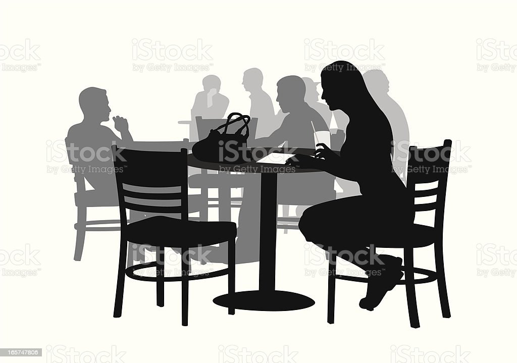 CoffeeShop Vector Silhouette royalty-free coffeeshop vector silhouette stock vector art & more images of adult