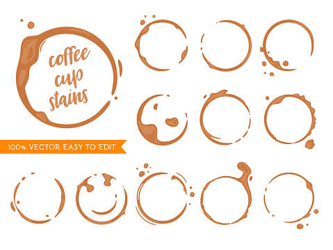 Cofffee stains clipart