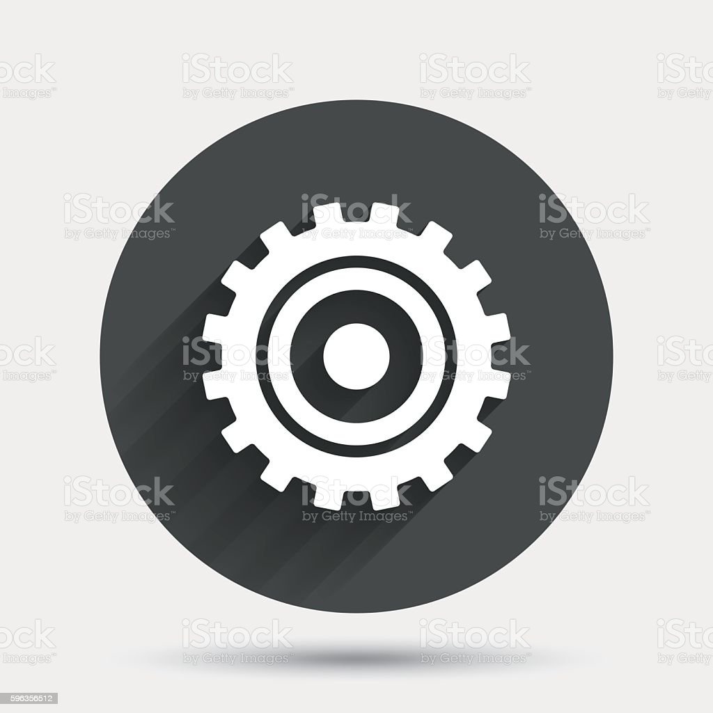 Cog settings sign icon. Cogwheel gear symbol. royalty-free cog settings sign icon cogwheel gear symbol stock vector art & more images of badge