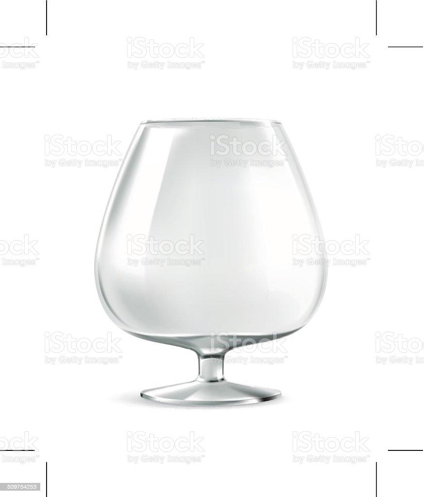 Cognac glass vector art illustration