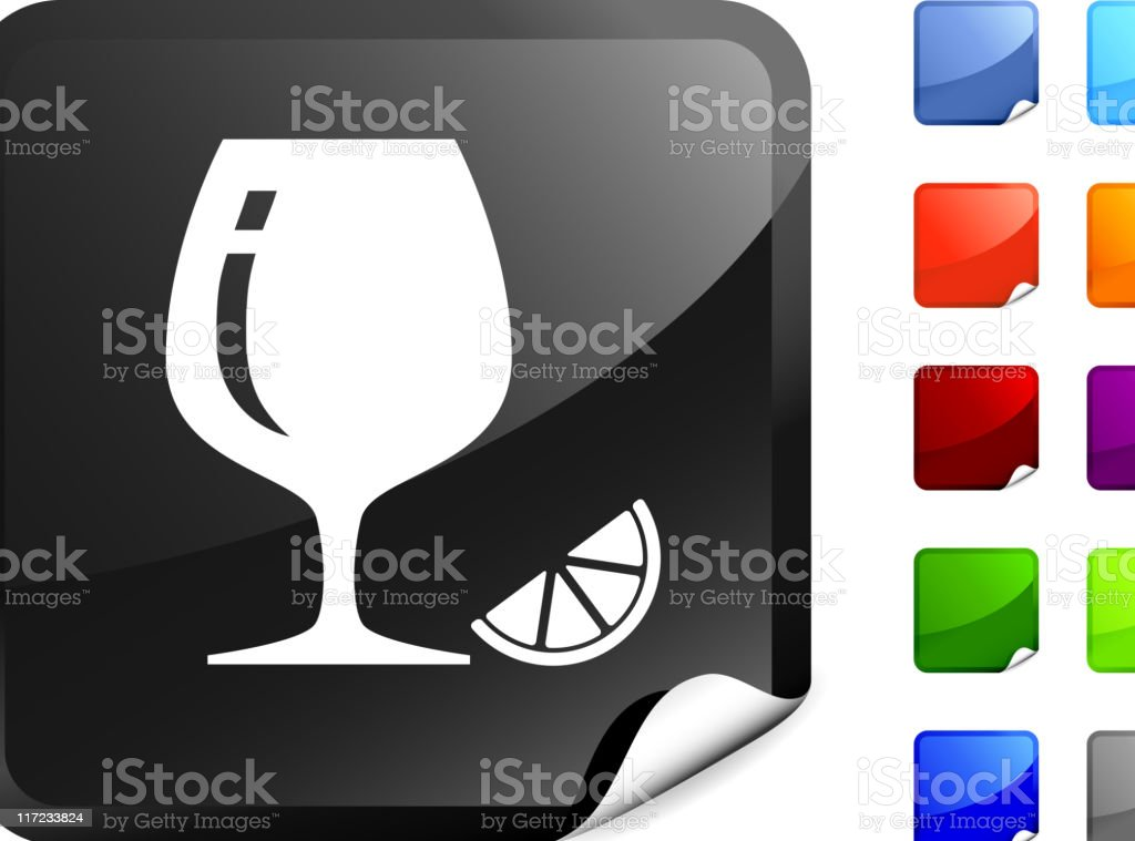 cognac glass with lemon internet royalty free vector art royalty-free stock vector art