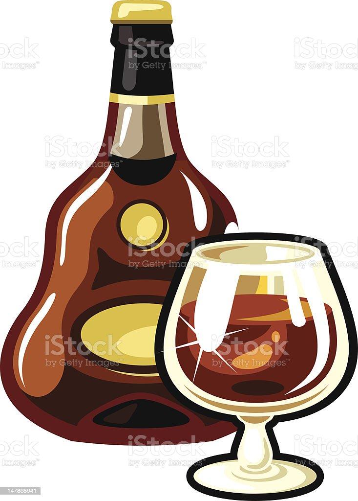 cognac royalty-free stock vector art