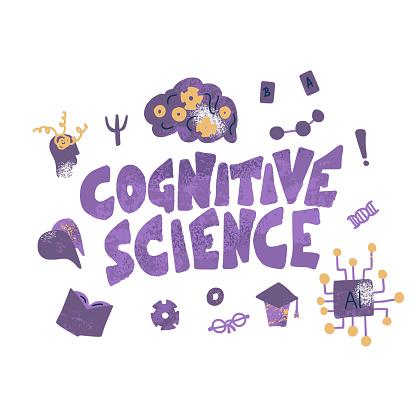 Cognitive science concept. Set of vector elements.