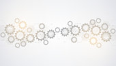 istock Cogs and gear wheel mechanisms. Hi-tech digital technology and engineering. Abstract technical background. 1217012192