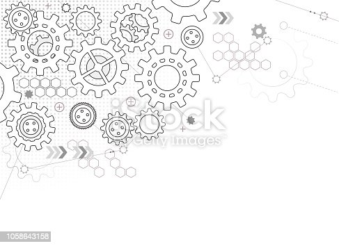 cogs and gears machine abstract teamwork background