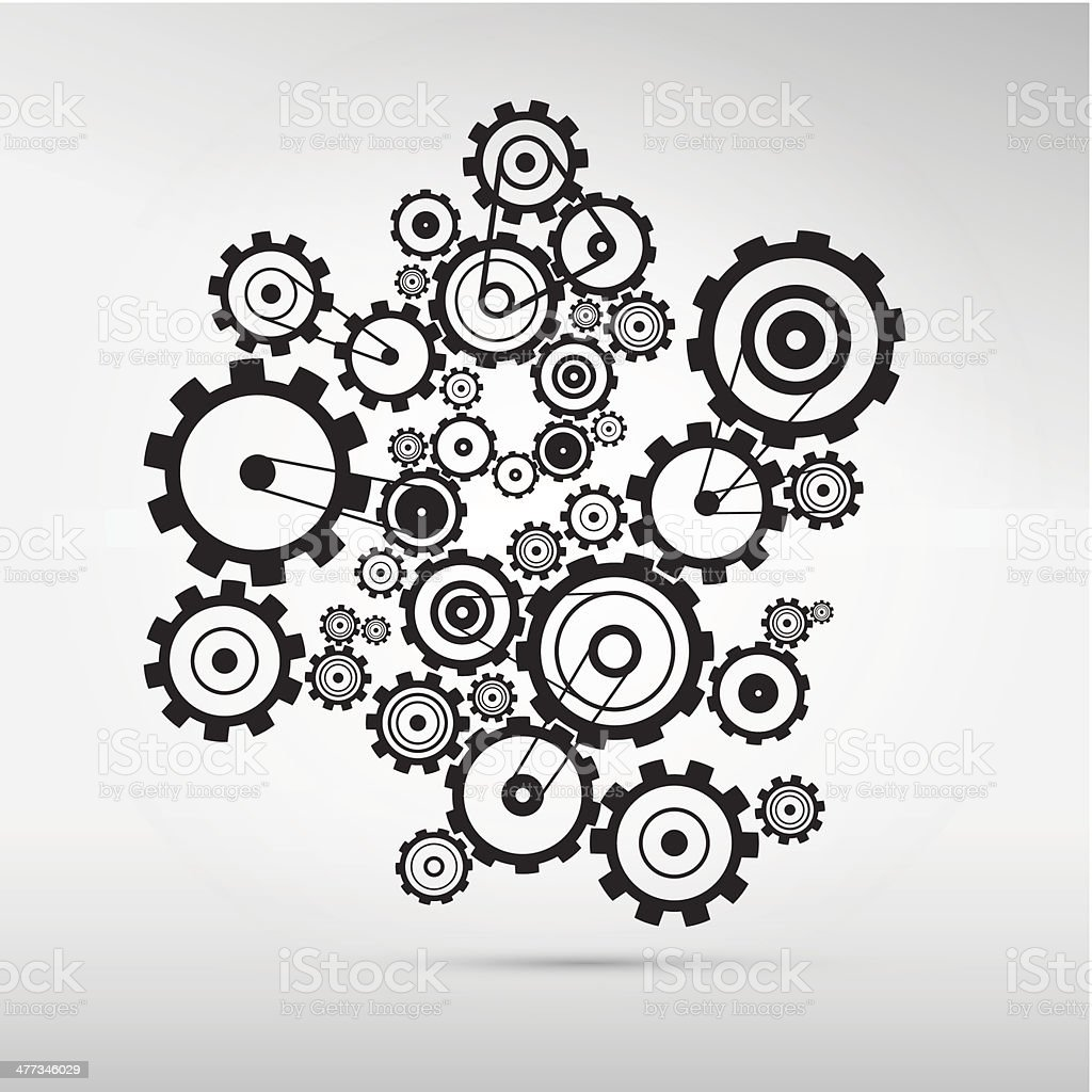Cogs -Gears medio - ilustración de arte vectorial