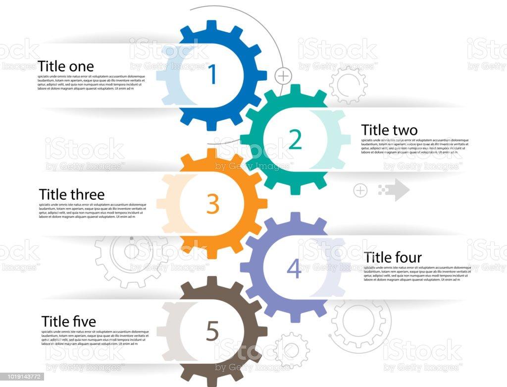 Infografía de Cogs - ilustración de arte vectorial