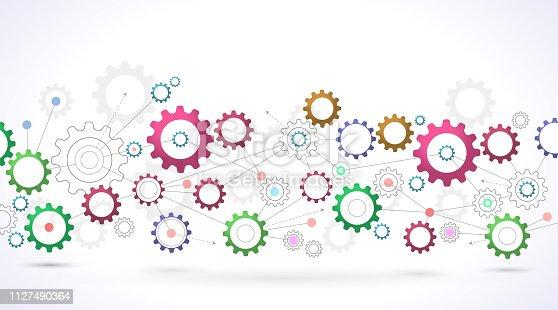 cogs network design background