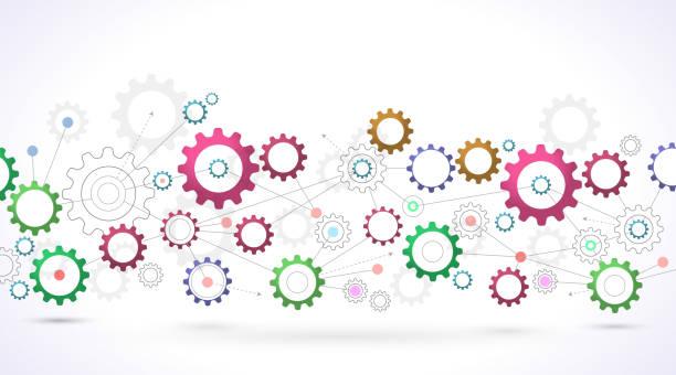ilustraciones, imágenes clip art, dibujos animados e iconos de stock de cv diseño de red - infografías de industria