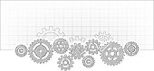 synchronized movement of cogs template design