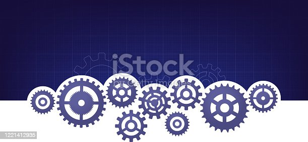 machine parts moving cogs background template