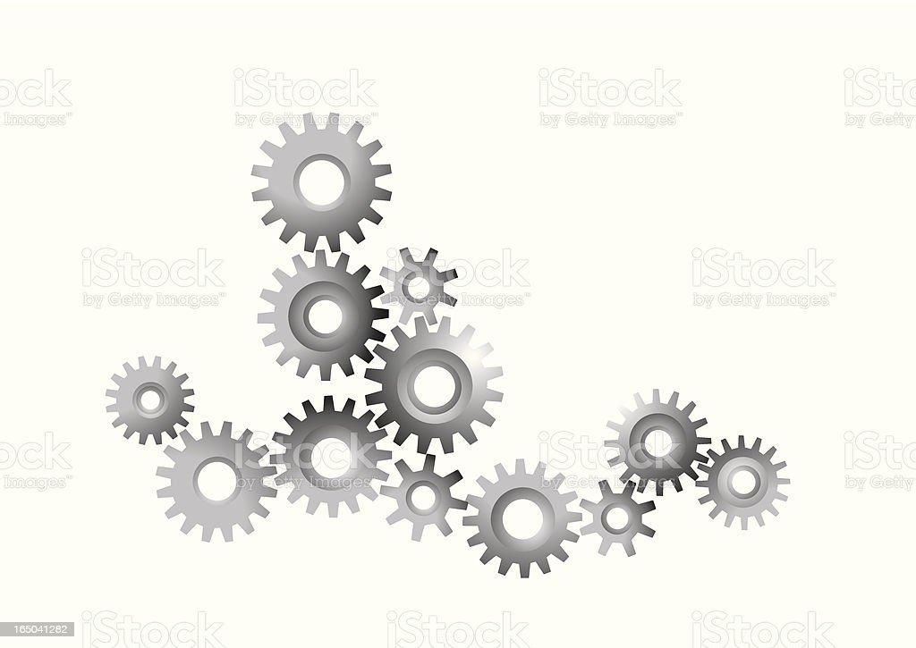 Cogs - Vector royalty-free stock vector art